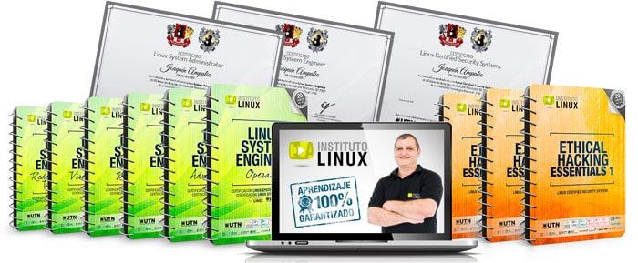 Imagen de los cursos linux para este año